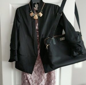 LC Lauren Conrad Black Polyester Blazer